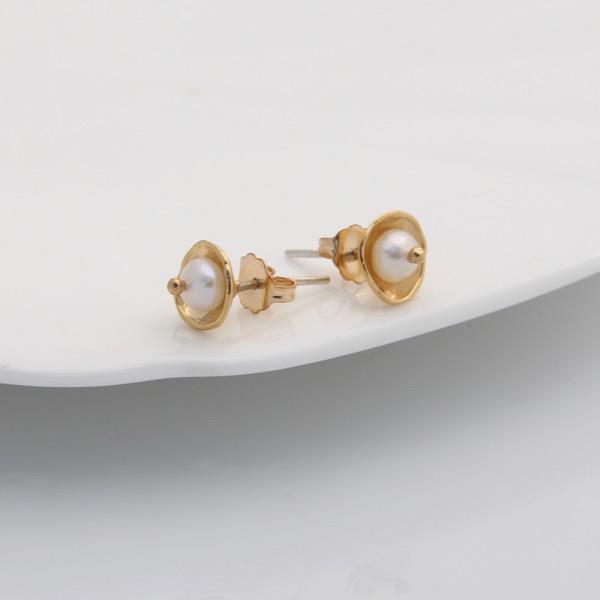 Gold Caviar Studs