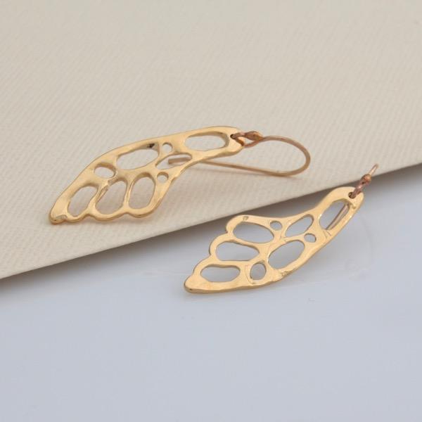 Wing Earrings - Gold