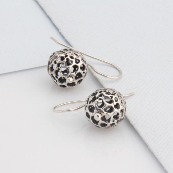 Small Lace Pod Earrings