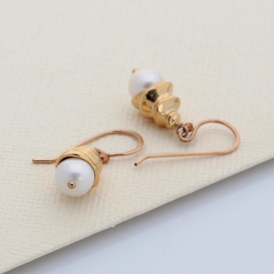 Gold Spiral Shell Earrings