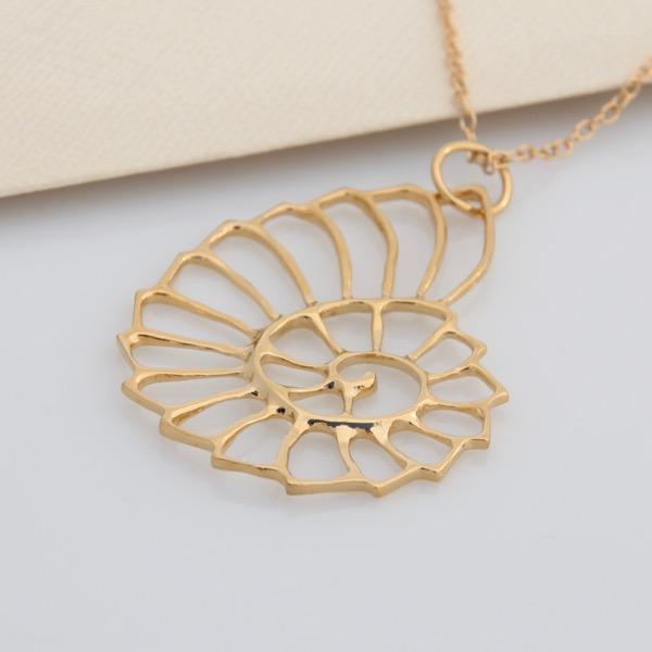 9ct GoldNautilus Necklace