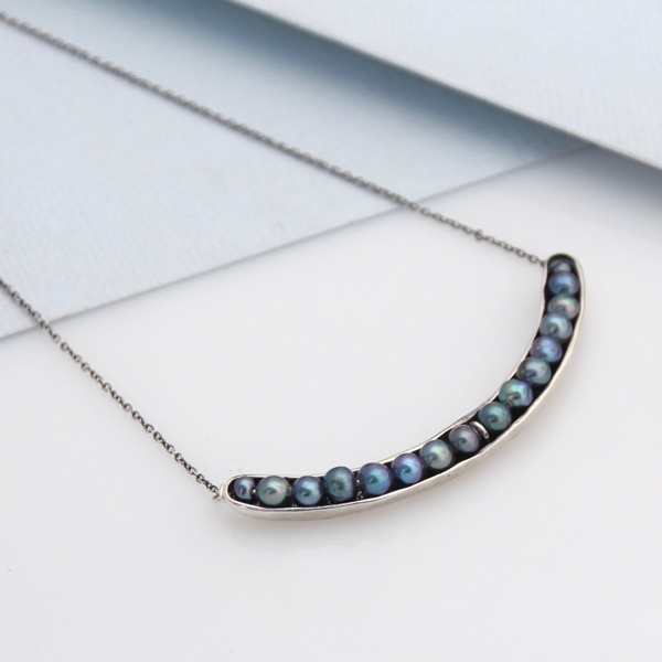 Sea Pod Crescent Necklace