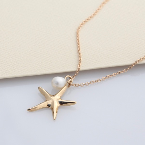 9ct Gold Starfish Necklace