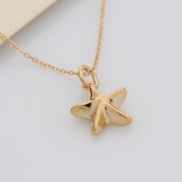 Mini Starfish Necklace - Gold