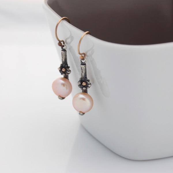 Floral Pearl Earrings