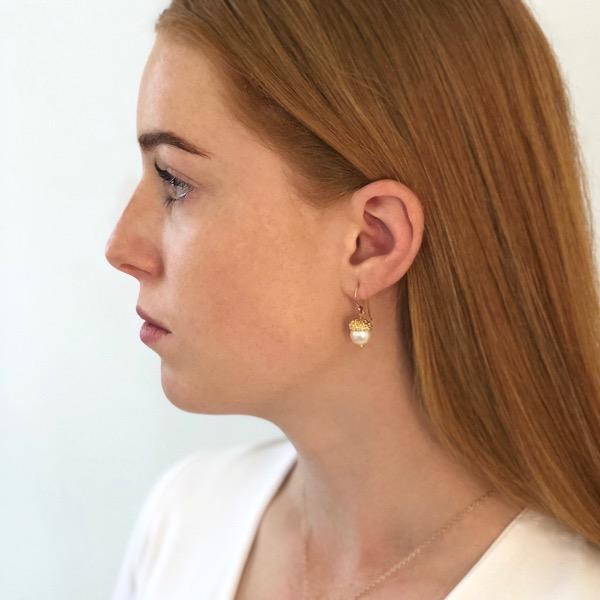 Acorn Earrings - Gold