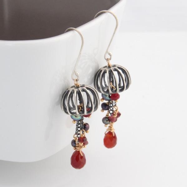 Jellyfish Earrings Ruby