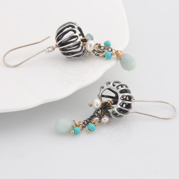 Jellyfish Earrings Teal