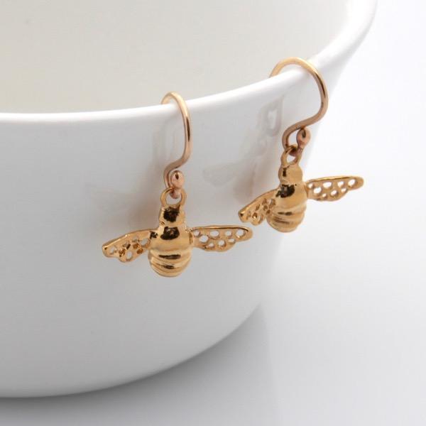 Bee Earrings - Gold