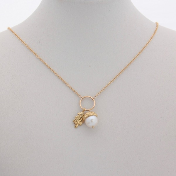 Acorn Necklace - Gold