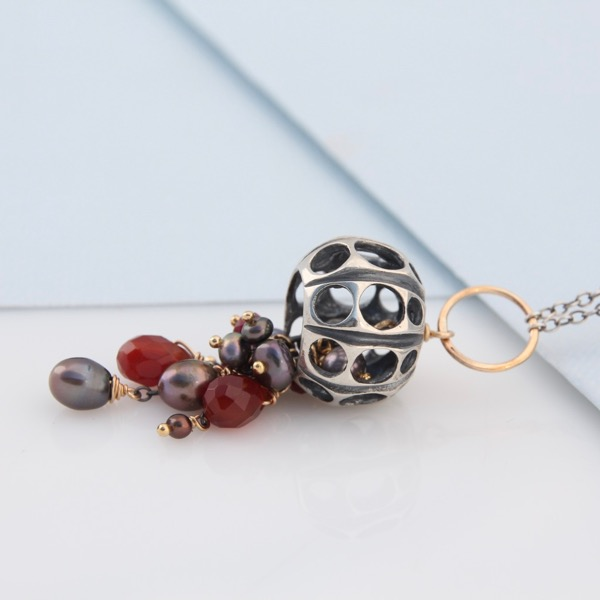 Jellyfish Necklace Ruby