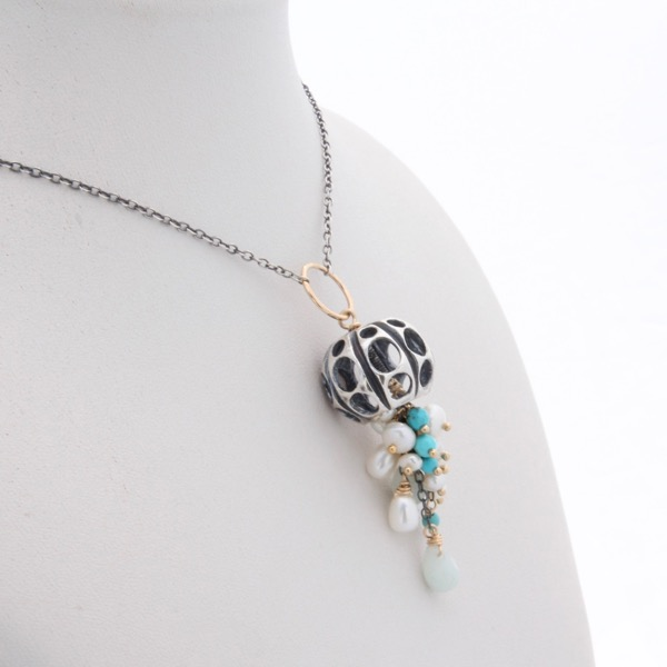 Jellyfish Necklace Teal