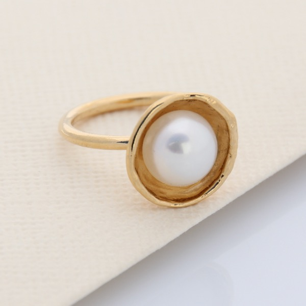 Cap Ring - 9ct Yellow Gold