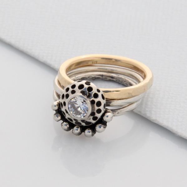 Crystal Kina Stackable Ring