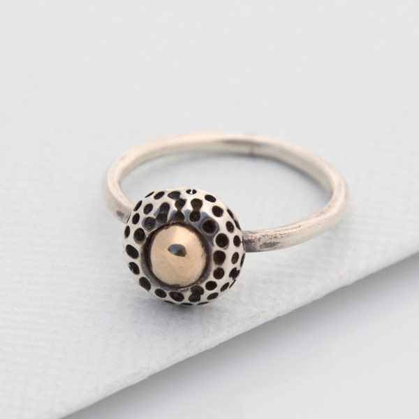 Kina Ring with Gold Cabochon