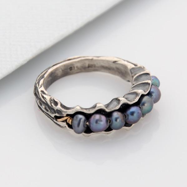 Pearl Scallop Ring