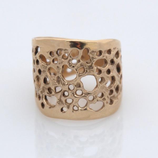 9ct Yellow Gold Organic Lace Ring
