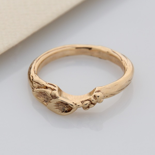 Floral Side Enhancer - 9ct Yellow Gold