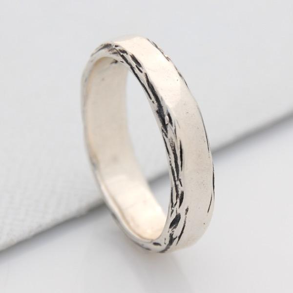 Unisex Side Bark Ring