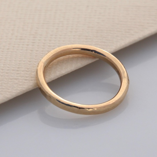 9ct Yellow Gold Planished Ring