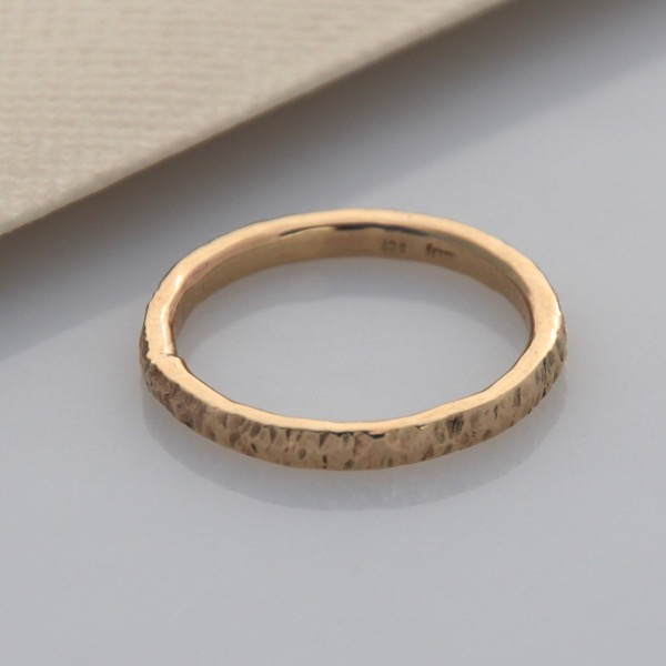 9ct Yellow Gold Textured Ring