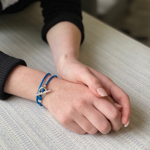 Toggle Wrap Bracelet - Blue