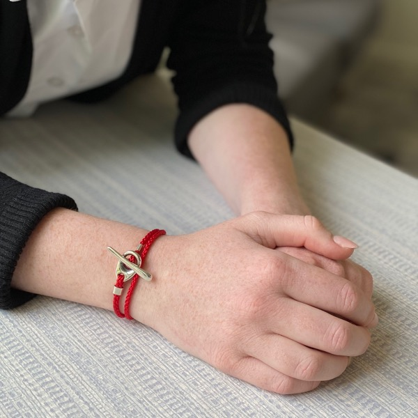 Toggle Wrap Bracelet - Red