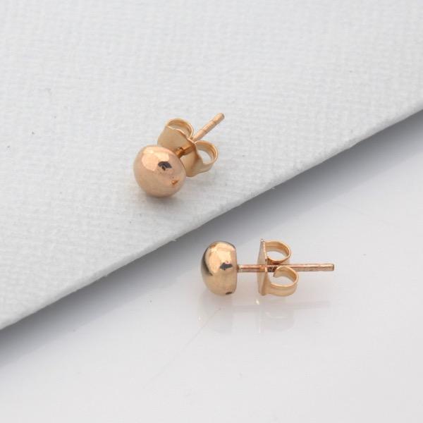 Mini Pebble Studs - 9ct Yellow Gold