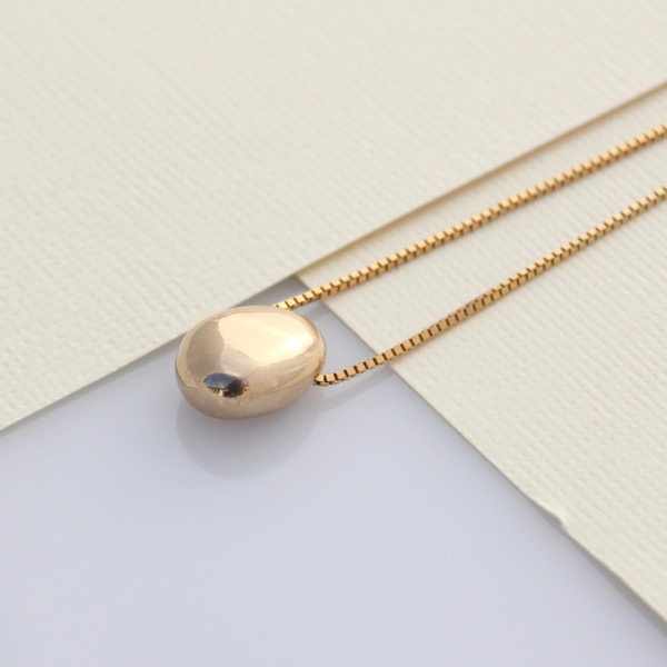 Small Pebble Necklace - 9ct Yellow Gold